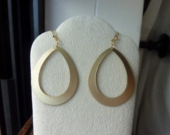 40% OFF SALE! Matte Finished Teardrop Earrings