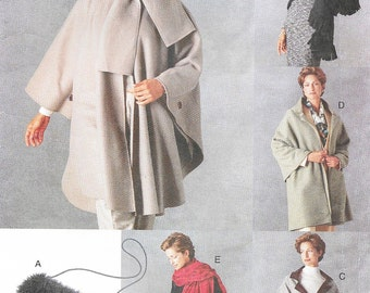 Vogue 9891 - Accessories - SHAWL, WRAP, PONCHO  - Sewing Pattern - One Size - Uncut