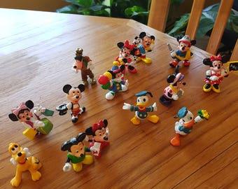 Lot of 14 Disney PVC Figures Mickey Minnie
