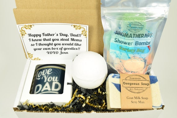 Father's Day Gift Basket with Candel and Soap