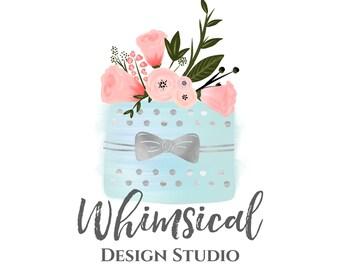 watercolor bakery logo design watercolor cake logo hand drawn logo premade logo custom logo design business logo design bakery blog logo