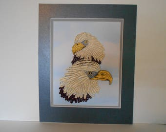 Bald Eagles - quilled