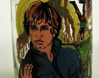 Star Wars Tumbler Glass Vintage Empire Strikes Back Luke Skywalker Yoda Chewbacca Burger King 1980 Coca Cola Hans Solo