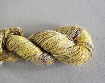 Lemonade.  Hand dyed soysilk yarn VEGAN