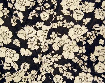 Black and White Mod Flowered Upcycled Umbrella Dog Rain Coat