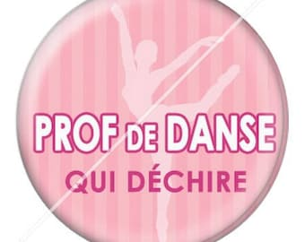 resin cabochon mounted on a stick dance teacher 2 25 mm