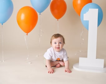 24 inch white photography prop numbers birthday