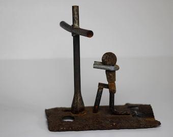 Scrap Metal Sinner at the Cross