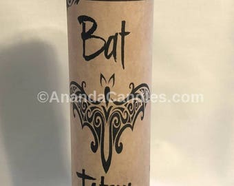 Hoodoo Voodoo Bat Totem Fixed 7 Day Candle Witchcraft