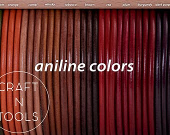Aniline Leather Cord/Wrist Bracelet Cord/Round Leather Cord/Spanish Cord/Jewelry Supplies
