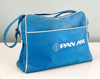 Vintage Pan Am Airline Carry On Case, Small Suitcase, Vintage Luggage, Makeup Case, Overnight Case, Vintage Suitcase, Valise