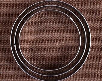 Cercle Cookie Cutters ensemble, rond emporte-pièces, grand métal emporte-pièces, emporte-pièces, emporte-pièce, coupe Biscuit, Fondant fraises