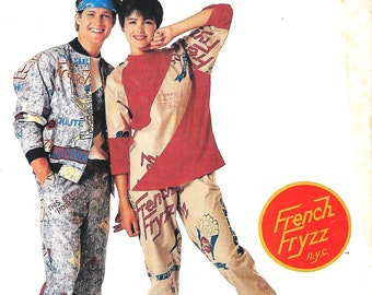 McCall's P908/3373 French Fryzz, Misses, Men's Or Teens Lined Jacket, Top And Pants Pattern, Medium 36-38, UNCUT