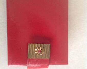 Vintage red leather wallet, never used