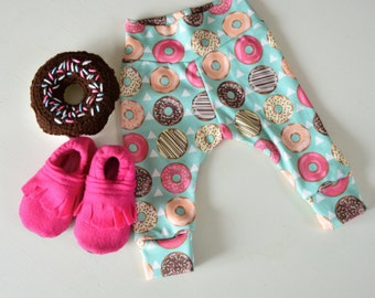 Organic Cotton Donuts and Teepees Infant/Toddler Leggings Sizes Preemie-4T