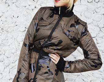 LIMITED EDITION Bomber Military Jacket, Camouflage Padded Jacket TC110, Bomber Camo Jacket, Bomber Flared Jacket by Teyxo