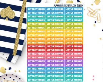 """60 """"Little Things"""" Section Header Planner Stickers! SB334"""
