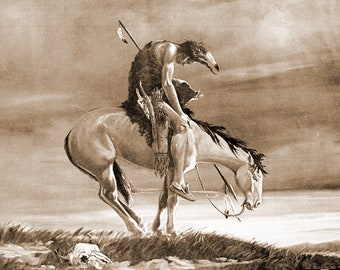 Last Ride Depicting the Defeat  of the American INdians
