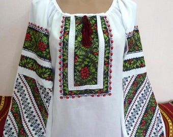 Ukrainian blouse vyshyvanka/ Ukrainian embroidery/ Peasant blouse/ embroidered shirt/ boho blouse/ Ukrainian clothing/ women's clothing