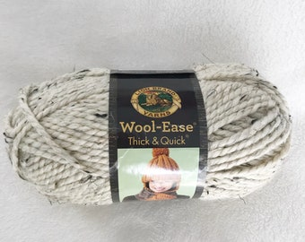 Lion Brand Yarns | Wool Ease | Thick and Quick | Super Bulky | Oatmeal