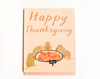 Prairie Dogs Thanksgiving Card
