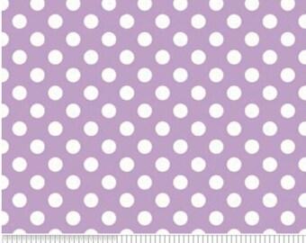 Small White Dot LAVENDAR-One Yard- Riley Blake