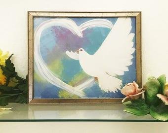 Spirit of love (blue) print
