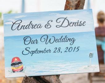 Nautical Beach Wedding Decor, Guest Book Alternative Wood, Beach Wedding Sign