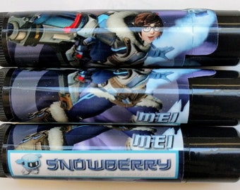 Mei Overwatch Snowberry (Strawberry & Blackberry) Lip Balm With Coconut Oil, Beeswax and Sweet Almond Oil