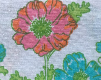 Mid-Century Floral Pillowcase