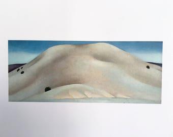 Georgia O'Keeffe / Soft Gray, Alcalde Hill / 1929-1930/ Art / Book Page Print / Published 1990's