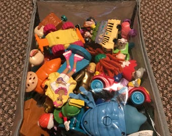 Fast food toy lot.