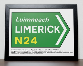 Irish Road signs - LIMERICK