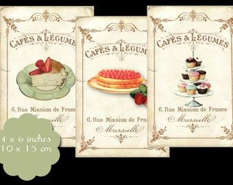 8 Vintage Cafe Tags