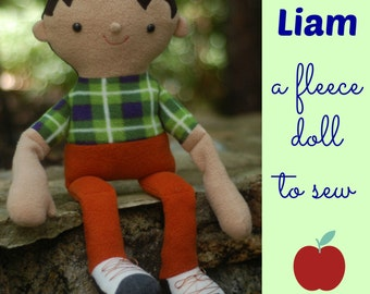 Liam - a fleece doll to sew, with easy-to-follow instructions and step-by-step photos