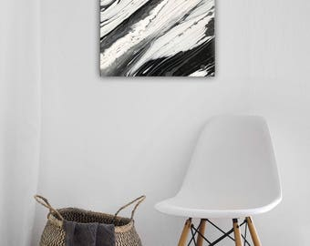 """Original Acrylic Pour Abstract Painting Fluid Art - """"Marble"""""""