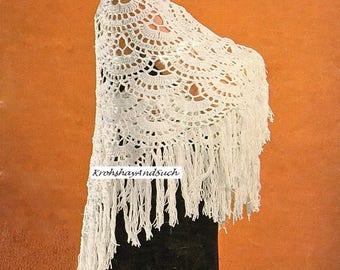 Ladies Shawl, Crochet Pattern. PDF Instant Download.