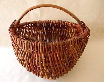 Vintage Hand Woven Egg Basket