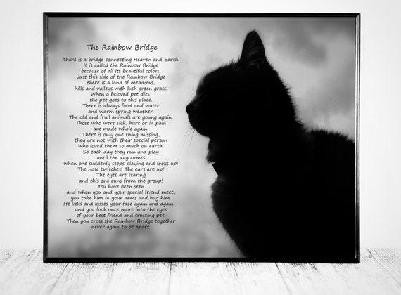 Cat Bereavement Gift - The Rainbow Bridge Poem
