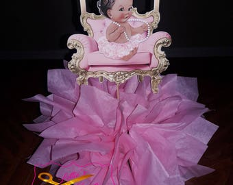 Royal Princess Centerpiece, Princess Centerpiece, Princess Birthday Centerpiece, Centerpiece, Baby Girl,  Princess Babyshower Centerpiece