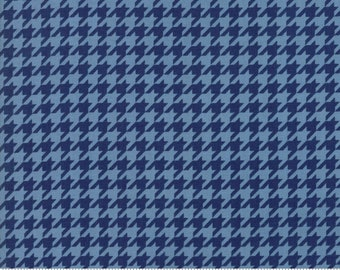 Houndstooth fabric-Midnight Blue from the Snow Much Fun fabric line by Deb Strain for Moda Fabrics #19807-14