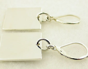 Sterling Silver Lever Back Earrings 38