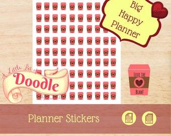 Coffee To Go Stickers | Sheet Stickers | Big Happy Planner Stickers | Big Happy Planner Sheet Stickers | Create 365 Sheet Stickers | MAMBI