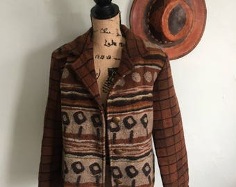 Wooded River vintage wool blend jacket large