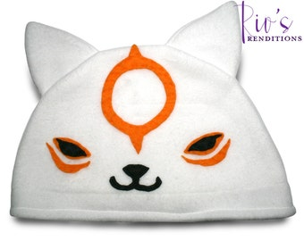 Okamiden - Chibiterasu Hat / Fleece Hat / Winter Hat / Okami Hat / Video Game Characters
