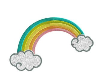 Embroidery design rainbow