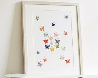 Butterfly Cloud Art Print