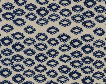 Cotton + Steel Woodblock Indigo Mesa Quilting Cotton
