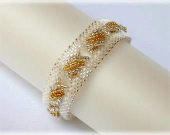 Zipper bracelet beading TUTORIAL
