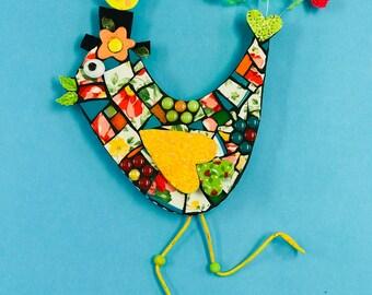 Whimsical + Quirky Running Bird Mosaic